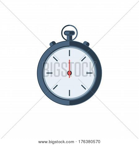 Chronometer timer sign. Vector illustration icon in flat style isolated on white background