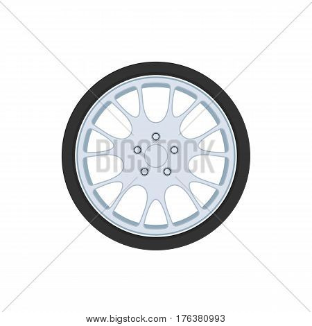 Car tire wheel sign. Rim icon. Vector illustration isolated on white background