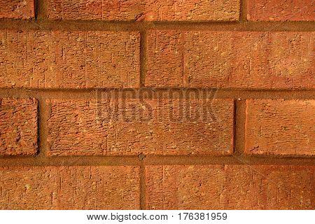 Close up of house brick wall UK.
