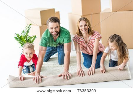 Family Unrolling Carpet