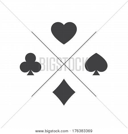 Suit of playing cards icon. Vector illustration symbols isolated on white background