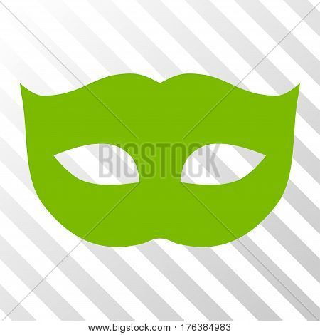 Privacy Mask vector pictograph. Illustration style is a flat iconic eco green symbol on a transparent background.
