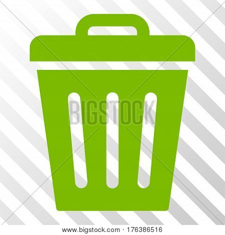 Trash Can vector pictograph. Illustration style is a flat iconic eco green symbol on a transparent background.