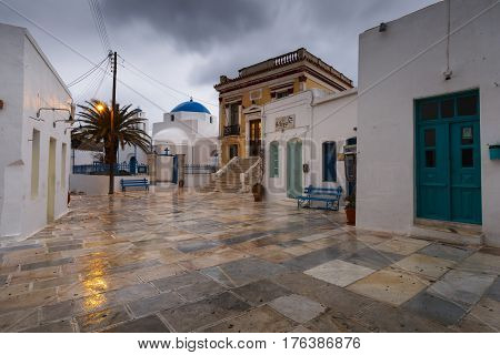 CHORA, GREECE - JANUARY 11, 2017: View of Chora village on Serifos island in Greece on January 112, 2017.