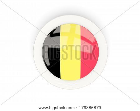 Round Flag Of Belgium With Carbon Frame