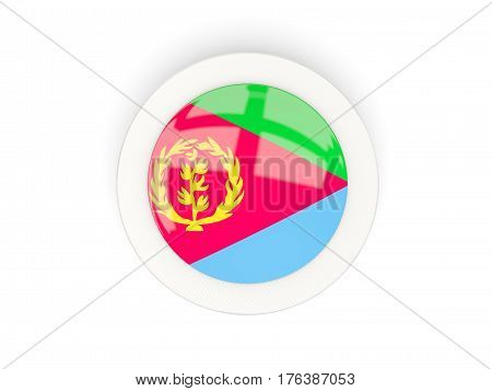 Round Flag Of Eritrea With Carbon Frame