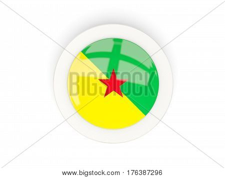 Round Flag Of French Guiana With Carbon Frame