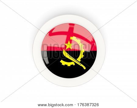 Round Flag Of Angola With Carbon Frame