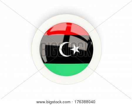 Round Flag Of Libya With Carbon Frame