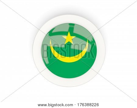 Round Flag Of Mauritania With Carbon Frame