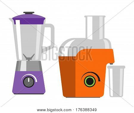 Electrical mixer dishware isolated vector illustration kitchenware appliance and juicer maker symbol electric tool domestic cooking household technology. Cooking blend metal household electronic.