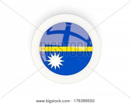 Round Flag Of Nauru With Carbon Frame