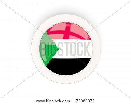 Round Flag Of Sudan With Carbon Frame
