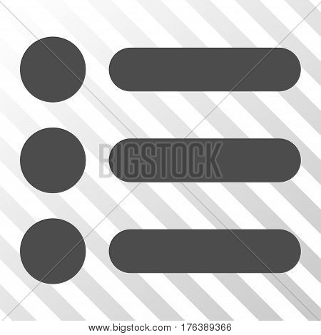 Items vector icon. Illustration style is a flat iconic gray symbol on a transparent background.