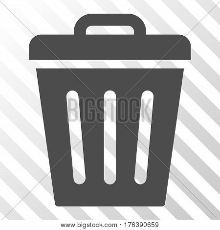 Trash Can vector icon. Illustration style is a flat iconic gray symbol on a transparent background.