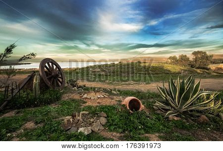Paesaggio lagunare. Scatto eseguito in Sardegna nel mese di Ottobre