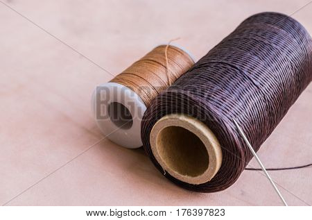 iamge of Thread and needle for leather craft