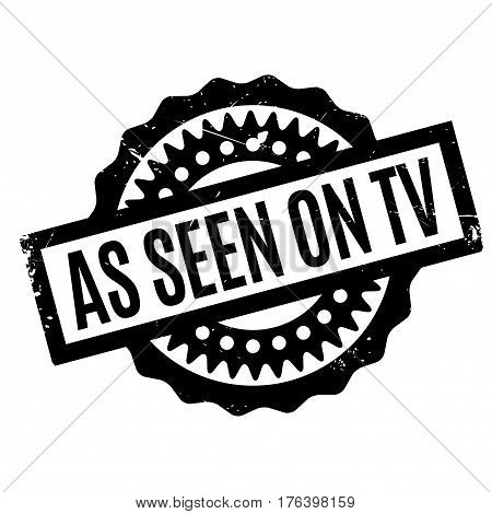 As Seen On Tv rubber stamp. Grunge design with dust scratches. Effects can be easily removed for a clean, crisp look. Color is easily changed.