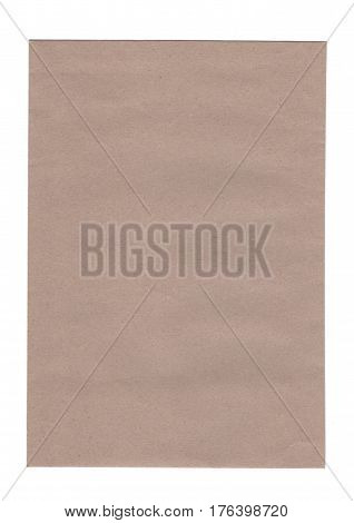 brown envelope paper isolated on white background