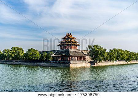 Corner of the Forbidden City in Beijing, China