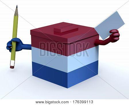 Dutch Election Ballot Box Whit Arms