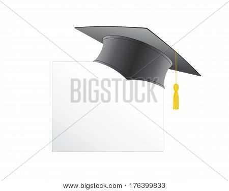 Graduation cap isolated on a white background illustration