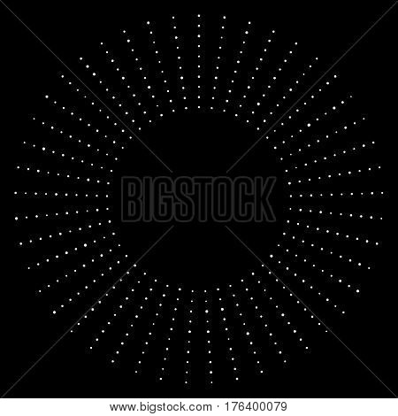 Black And White Dotted Circular Half-tone Element