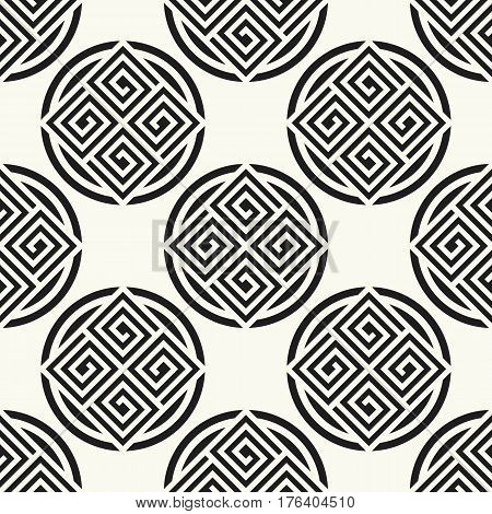 Seamless pattern with meander ornament. Stylish textile print with greek design. Greece fabric background.