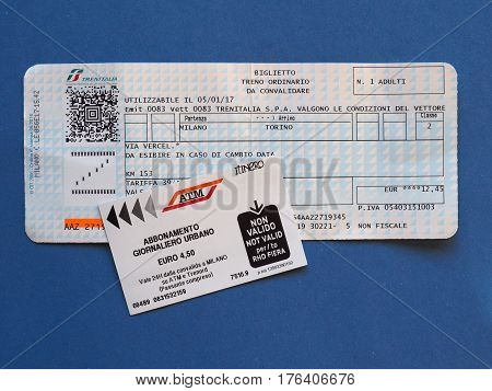 Italian Train Tickets