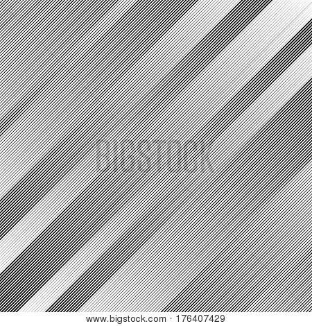 Abstract Monochrome Pattern With Dynamic Irregular Lines. Lineal, Linear (grid, Mesh) Pattern