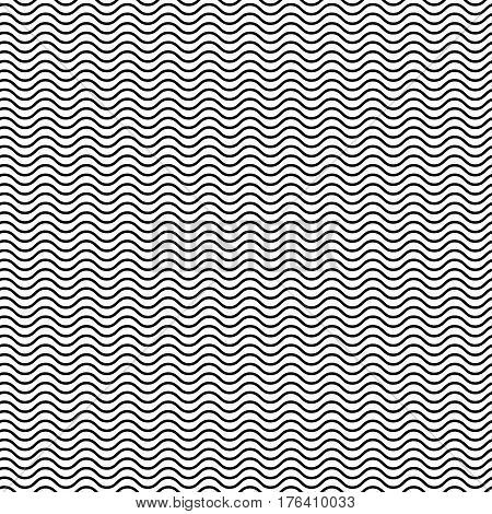 Wavy Zigzag Lines Seamless Pattern. Distorted Lines Texture.