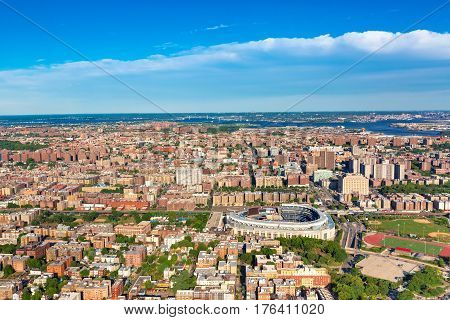 Aerial view of the Bronx New York City