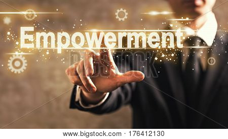 Empowerment Text With Businessman
