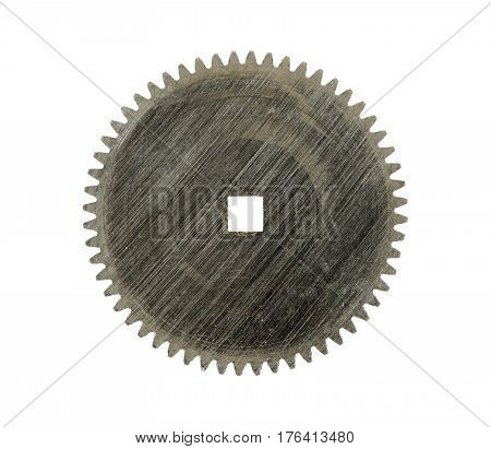Detail of gear - cog wheels - isolated on white background