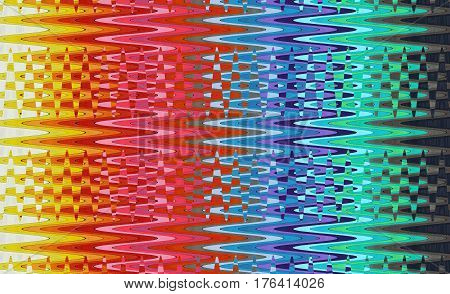 Illustration of the abstract image of the multicolored waves