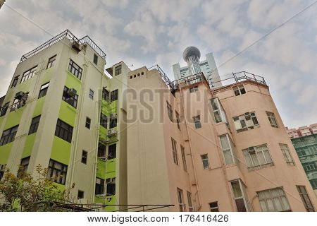 Old Building At Sai Wan Hk