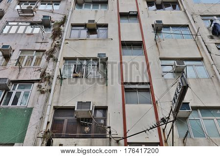 Old Apartment Building At Sai Wan