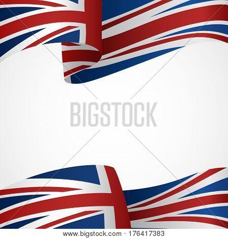 Decoration of United Kingdom insignia on white
