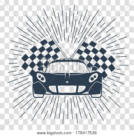 Racing Sports Cars  Silhouette