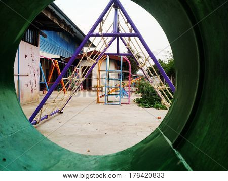 playground in school from sakon nakhon thailand