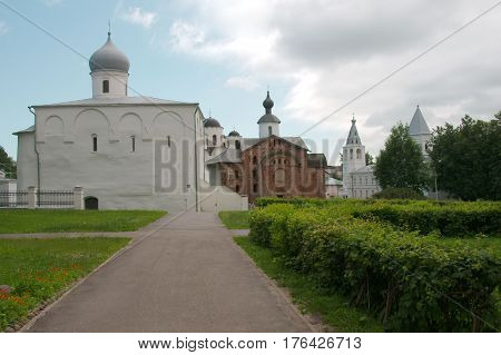 Assumption Church and the Church of Paraskeva Friday at the Trade Courtyard (Yaroslav's Court) in Veliky Novgorod