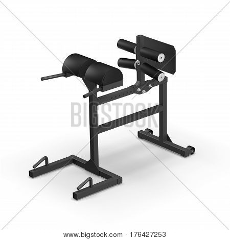 Glute Ham Developer GHD training apparatus isolated on white background 3D illustration render