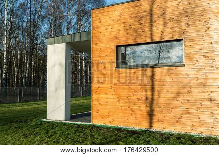 Modern House With Wooden Walls