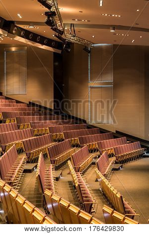 Chairs In Large Assembly Hall