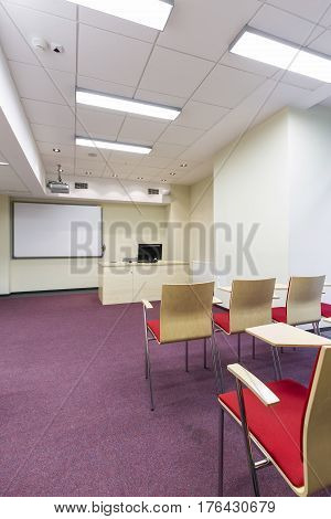 Cosy Lecture Room With Board