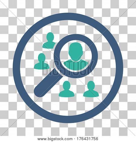 Search People icon. Vector illustration style is flat iconic bicolor symbol cobalt and cyan colors transparent background. Designed for web and software interfaces.