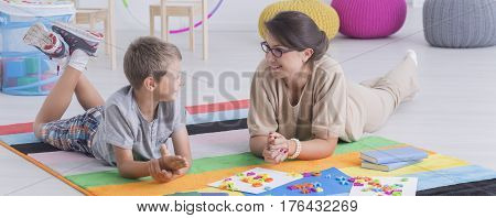 Talk Between Therapist And Boy