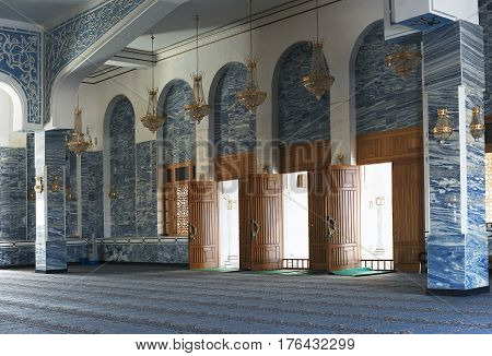 Entrance Hall of a Mosque. October 25, 2014 - Sharm el Sheikh, Egypt
