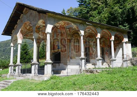 Varallo, Italy - 6 September 2015: The church of Madonna di Loreto at Varallo on Piedmont Italy