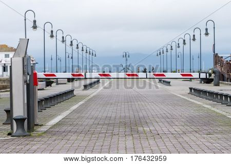 image of a view of the street barrier